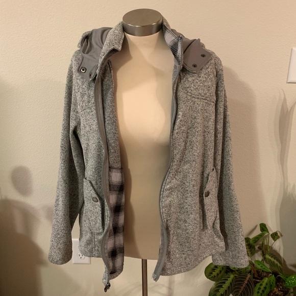 Eddie Bauer Jackets & Blazers - Gray Eddie Bauer hooded sweater